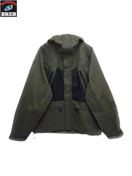 DESCENDANT ディセンダント 19SS AVALANCHE 3 LAYER JACKET 1 カーキ【中古】