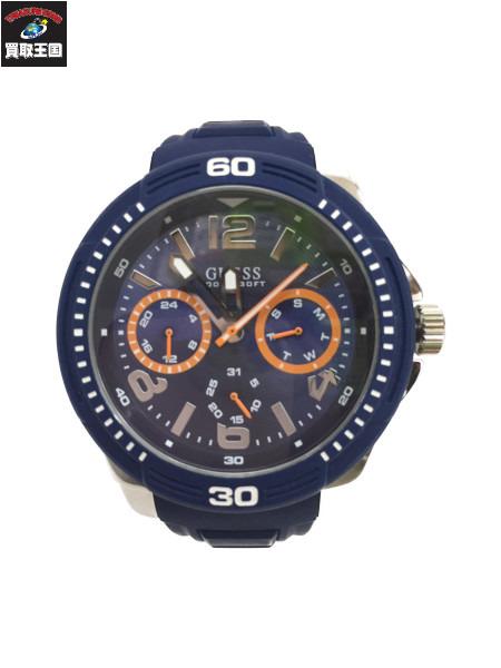 GUESS ゲス 腕時計 W0967G2 青文字盤 アナログ クオーツ【中古】