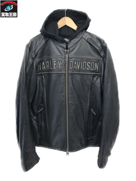 Harley-Davidson フードライナー付きカウレザージャケット 98138-09VM【中古】
