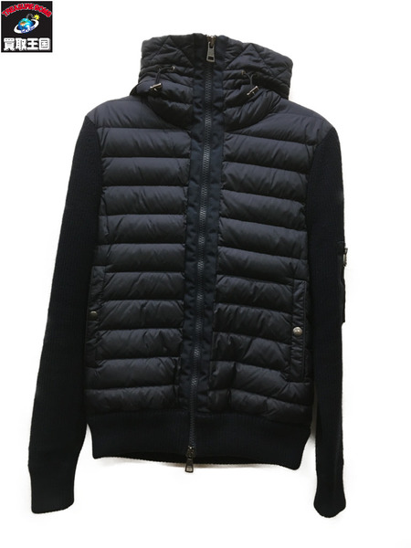 MONCLER maglione tricot cardigan (S) ネイビー【中古】