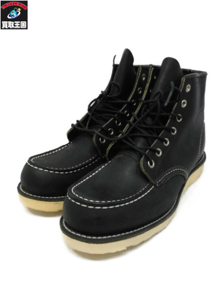 RED WING セッター モックトゥ 9 1/2 9075 黒【中古】