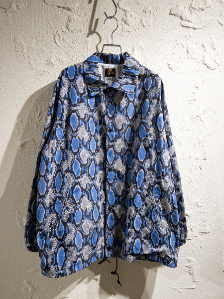 Needles/20SS/Coach Jacket Poly Taffeta Python/M/ブルー【中古】