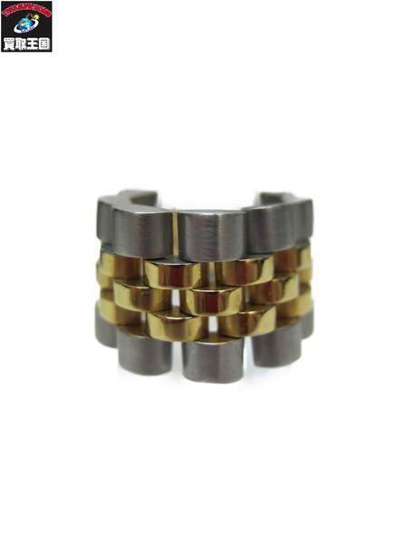 Alexander Wang Silver-gold Metal Chain Ring/ウーブンチェーンリング【中古】[▼]