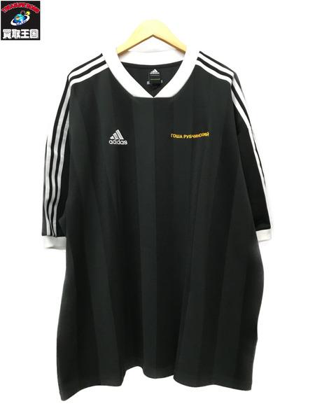 adidas Gosha Rubchinskiy フットボールシャツ (M) ブラック【中古】