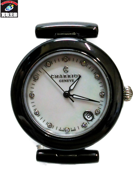 CHARRIOL/シャリオール/腕時計/ブラック/ホワイトシェル文字盤【中古】