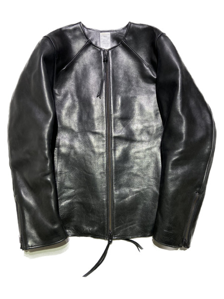 Name./HORSE HIDE NO COLLAR LEATHER JACKET SERIES/1/ブラック【中古】[▼]