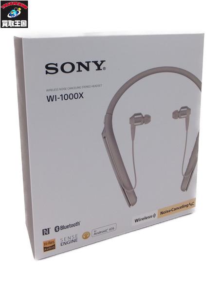 SONY WI-1000X ワイヤレスノイズキャンセリングステレオヘッドセット ゴールド【中古】