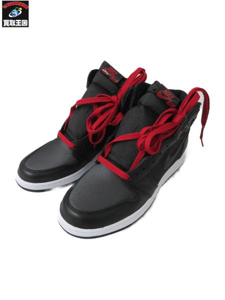 NIKE/AIR JORDAN 1 RETRO HIGH OG BLACK/GYM RED 555088-060【中古】[▼]