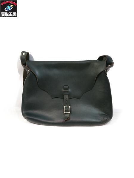 Fernand Leather ホーウィン社/クロムエクセルレザー/オールレザー/ショルダーバッグ 黒【中古】
