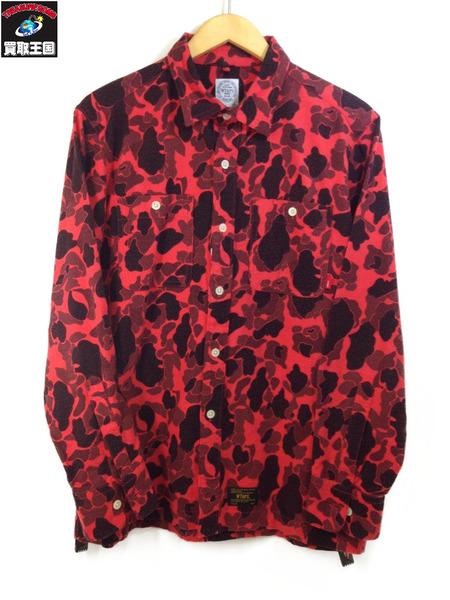 2016AW W)TAPS Red Camo Grove Shirts【中古】