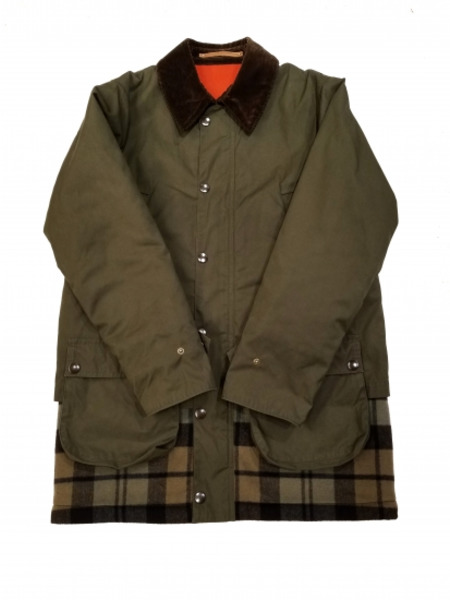 Scye paraffin processing layered jacket カーキ SIZE:38【中古】