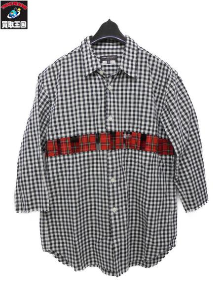 COMME des GARCONS HOMME PLUS 半袖チェックシャツ サイズXS【中古】, 灯台美ハーブ園:b844263c --- styleart.jp