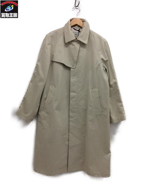 salvy twill coat ivory ステンカラー (3)【中古】