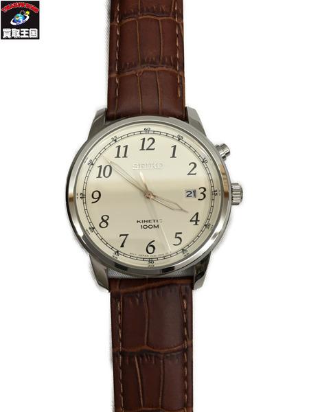 SEIKO/セイコー/腕時計/SKA779P1/海外モデル/革ベルト/自動巻き/茶/銀色【中古】