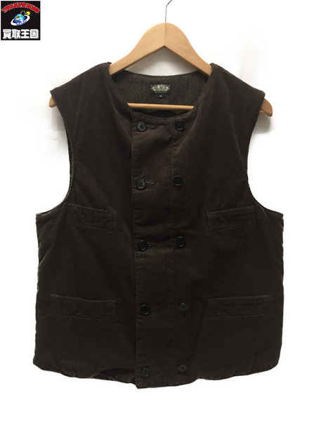 BLACK SIGN 14AW Antique Code Breasted Vest 36【中古】