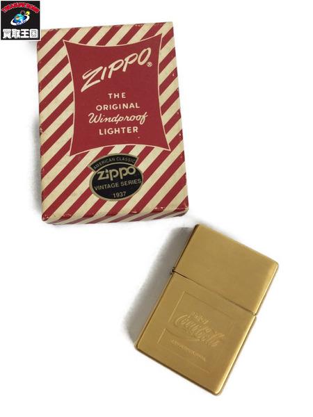 ZIPPO 89年4月製 真鍮コカコーラ【中古】