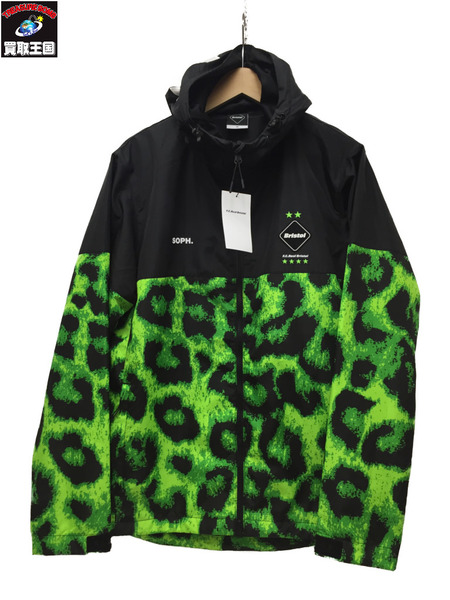 F.C.Real Bristol 19AW PRACTICE JACKET FCRB-192031 M BLK/L.GRN【中古】[▼]