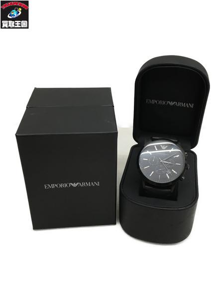 EMPORIO ARMANI スポルティボ クォーツ腕時計 オールブラック 黒 AR2461【中古】[▼]