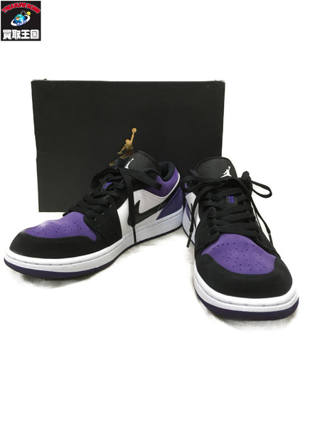 NIKE AIR JORDAN 1 LOW COURT PURPLE (27.0)【中古】