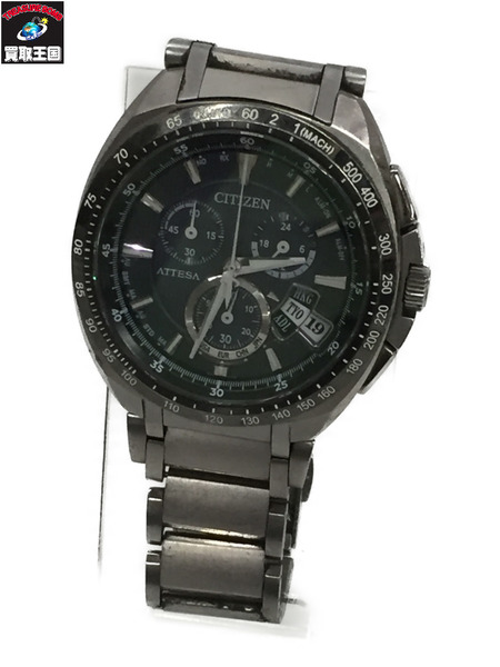 CITIZEN ECO Drive ATTESA 電波ソーラー 【中古】[▼]