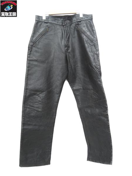 60~70S BATES レザーパンツ(約34インチ)黒【中古】