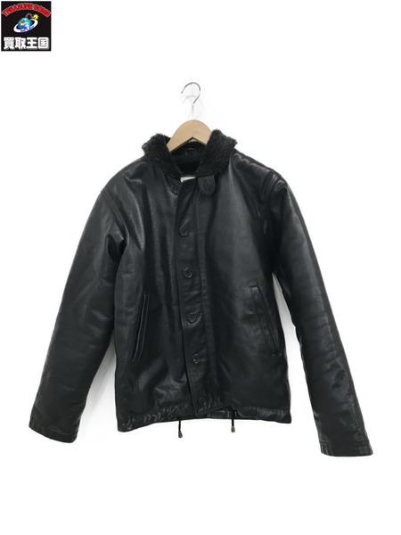 63 leathers N-1 レザージャケット (S) ブラック【中古】