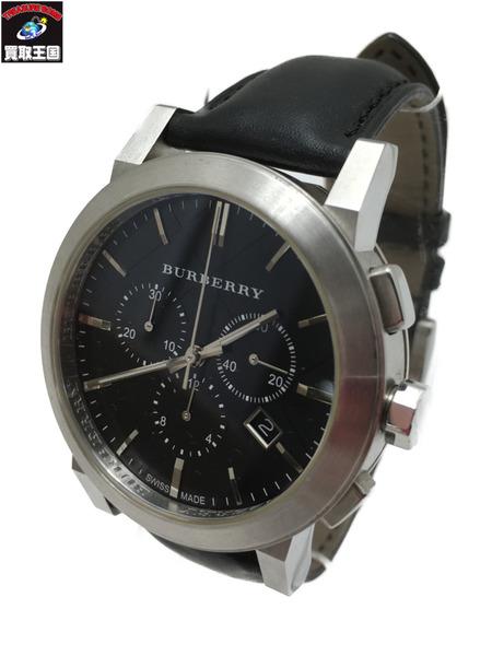 BURBERRY BU9356 The City シティ クロノグラフ クォーツ腕時計 ブラック【中古】