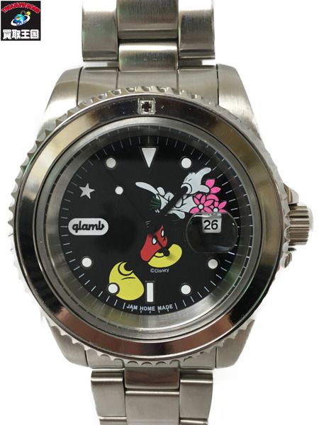 glamb/JAM HOME MADE/腕時計/Throw Mickey-watch 本体のみ【中古】