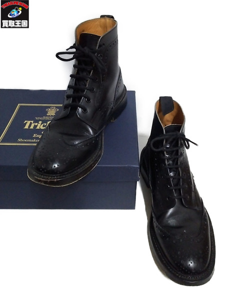 Tricker's COUNTRY BOOTS ウイングチップ ブーツ 26cm【中古】