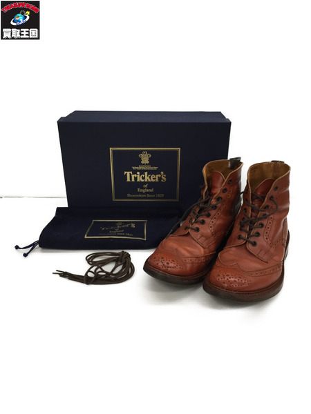 Tricker's カントリーブーツ M2508 ブラウン UK8 【中古】[▼]