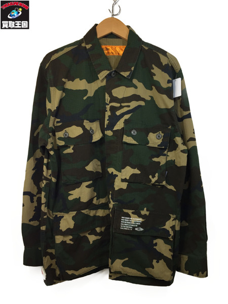 CHALLENGER CAMOUFLAGE JACKET (L) CAMO ミリタリージャケット【中古】