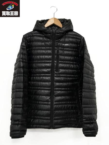 patagonia ウルトラライトフーディー ダウンジャケット 黒(XS)【中古】