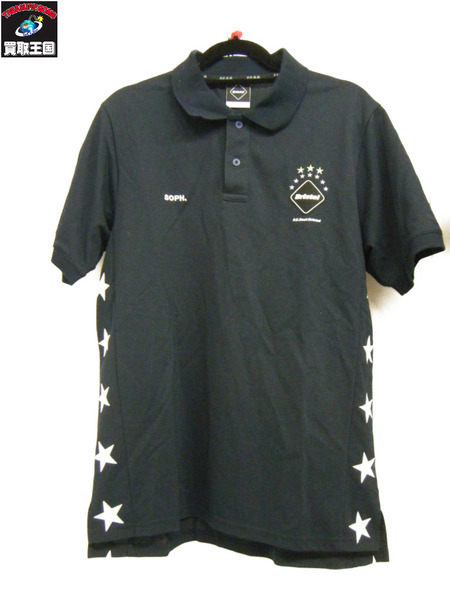 F.C.Real Bristol/TOUR POLO SHIRTS/L 紺【中古】