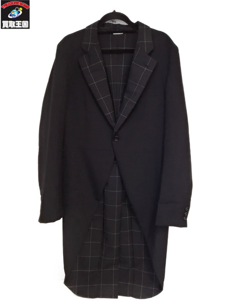 COMME des GARCONS HOMME PLUS/17SSモヘア混燕尾ジャケット/テイルコート【中古】