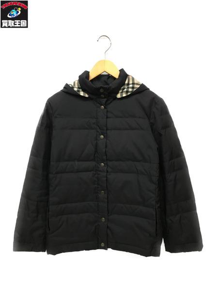 BURBERRY LONDON フード付きダウンジャケット (40) ブラック【中古】