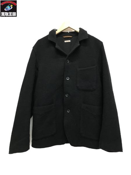 KAPITAL 裏地刺繍 ウール4Bジャケット (M) ブラック【中古】[▼]
