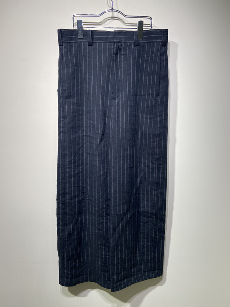 DEVOA/20SS/Baggy cropped pants linen viscose stripe/2【中古】