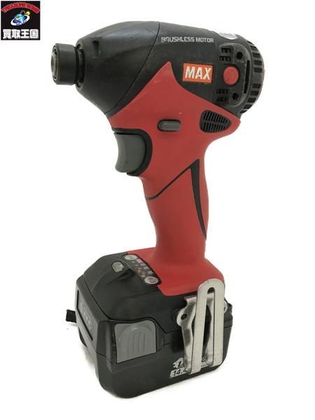 マックス MAX 充電式ブラシレスインパクトドライバ バッテリー2個 充電器付 PJ-144-B2C【中古】