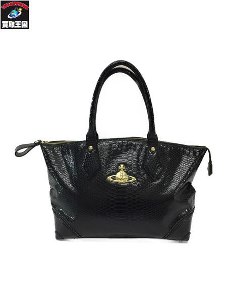 Vivienne Westwood クロコ型押しバッグ/黒【中古】