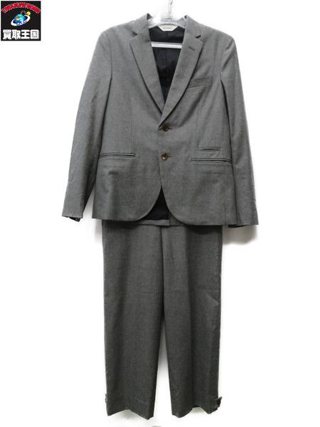 DIGAWEL/スーツ/ウール/セットアップ/灰/上サイズ1/下サイズ0【中古】