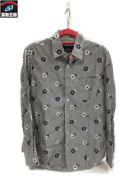 tricot COMME des GARCONS フラワー刺繍シャツ (M)【中古】