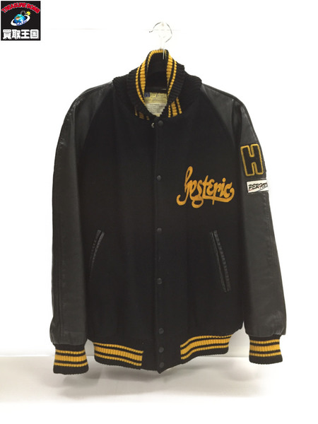 HYSTERIC GLAMOUR ウールスタジャン 黒 40【中古】[▼]