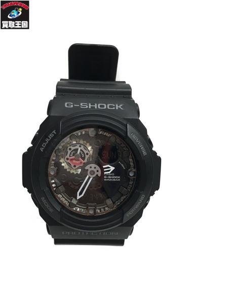 G-SHOCK 腕時計/クォーツ GA-300-1AJF 黒 プロテクション【中古】