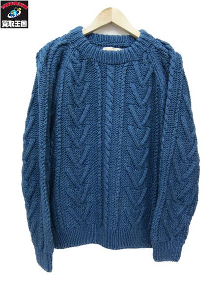 TROPHY CLOTHING 16AW コットンフィッシャーマンニット 40【中古】
