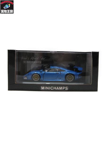 ミニチャンプス 1/43 ポルシェ 911 GT1 Modell Fahrzeug 特注【中古】