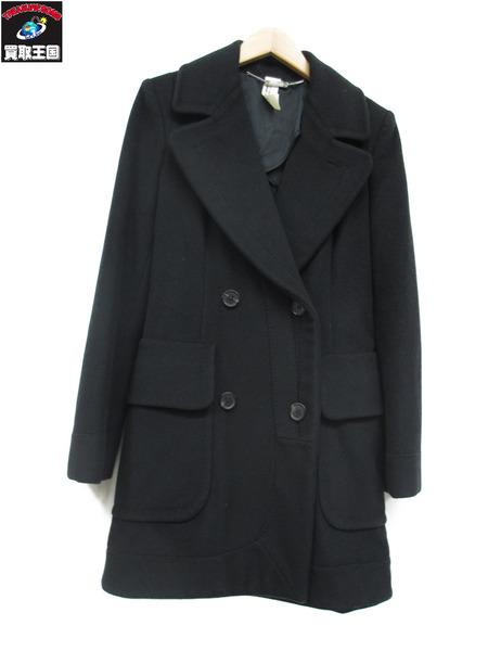 CdG ウールコート(38)黒 イタリア製【中古】