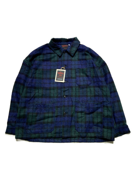VETRA/19AW/oversized coverall jacket/46/ブラックウォッチ【中古】