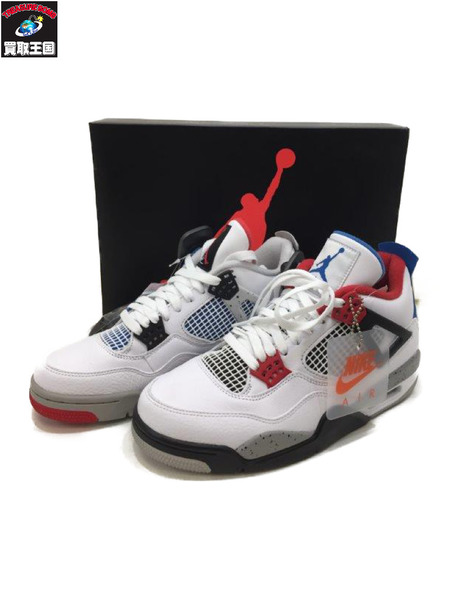 新品タグ付 NIKE AIR JORDAN 4 RETRO (27.0) SE WHE/MILITARY BLU【中古】