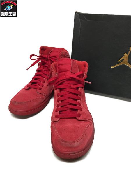 premium selection 9c005 18e3e NIKE AIR JORDAN 1 RETRO HIGH suede sneakers red (27.5cm)