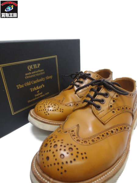 Quilp by Tricker's×The Old Curiosity Shop ウイングチップ (25.5)【中古】
